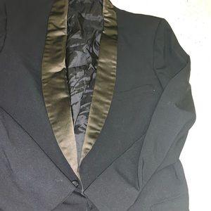 Vintage Black Hart Schaffer Tuxedo Jacket